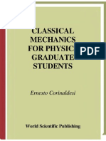 E Corinaldesi Classical Mechanics - For Physics Graduate Students 1998