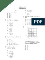 Mathematics 1993 Paper 2