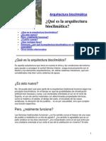 Arquitectura bioclimatica