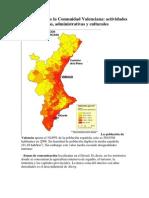 La población de la Comunidad Valenciana