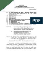 Pen Revision MNS and Regular LT COLs
