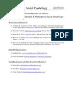 Socialpsychology FurtherReadings F1.1-Welcome