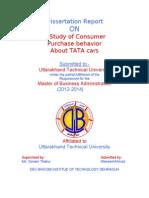 Dissertation Report on Bying Behavior