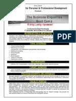 Business Etiquette Brochure