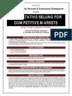 Consultative Selling Skills Brochure