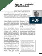 Governance Rules For Executive Pay – The EU and G20 Perspectives By Leonardo Sforza