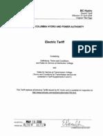 BC-Hydro-BC-Hydro-Electric-Tariff