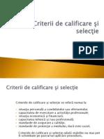 9_criterii Calificare Si Selectie 2009