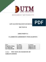 Project 2 ClassroomAssessmentForLearning
