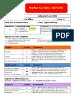 shakira semster 2 2013 template