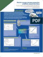 Electric energy storage properties of BiFeO3-based thin films