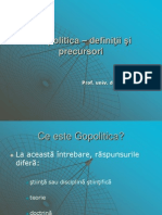 Curs 1.Geopolitica _ definiţii şi precursori