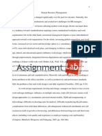 Human Resource Management/ Essay / Paper by AssignmentLab.com