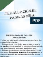 evaluación de paginas web