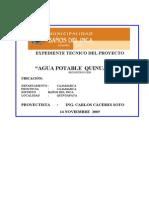 Memo-Agua Potable Quinuapata- Esp Tecnicas