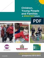 Children Young People and Families - Prospectus 2012 - 2013