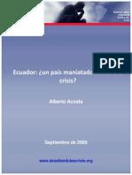 Ecuador Maniatado Frente a La Crisis Septiembre 2009