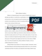 Medieval Medicine Usefulness/ Essay / Paper by AssignmentLab.com