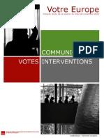 Bilan de la session plénière novembre 2013