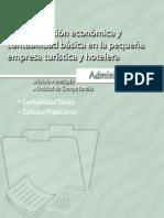 Administracion Economica y Contabilidad Basica en la Pequeña Empresa Turistica y Hotelera