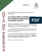 131122 NP- Congreso Internacional de Ciudadanía Europea