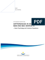 2013 Differences in Selling in b2c and b2b