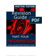 Free E-Book 'Revision Guide Part 4 - Information' from GCSE Maths Tutor