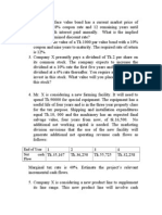 Practice questions For Corporate Finanace 1
