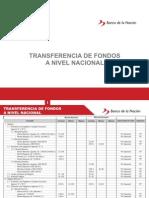 Tasas Transferencia Fondos Nivel Nacional