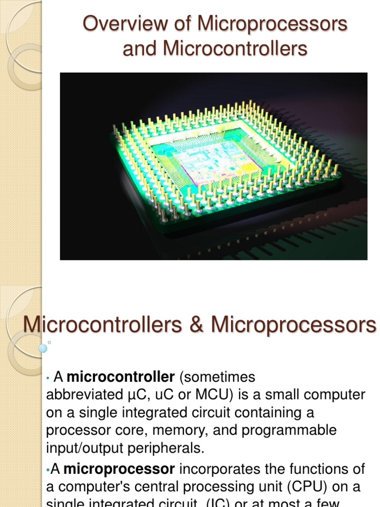 Microcontrollers Microcontroller Central Erasable Programmable Readonly Memory Integrated Circuits These Processing Unit