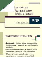 La educación y la pedagogía como campos de