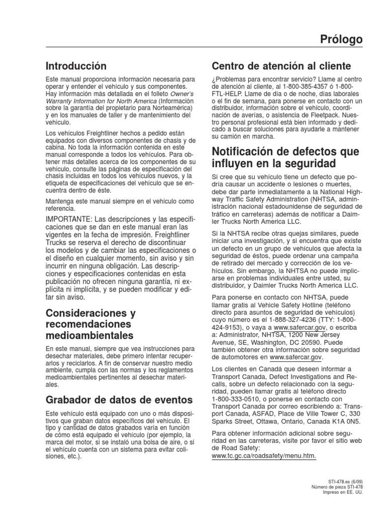 Guía del conductor FTL CASCADIA