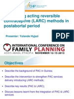 Use of Long-Acting Reversible Contraceptive (LARC) Methods in Postabortal Period