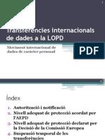 Transferències internacionals de dades a la LOPD