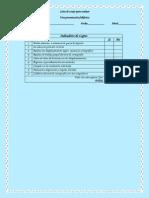 lista de cotejo para evaluar