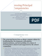 addressing principal competencies