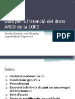 Atenció dels drets d'accés, rectificació, cancel·lació i oposició de la LOPD