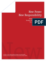 New Power, New Responsibility