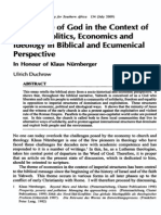 People of God - Economics and Ideology