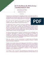 Primera Reforma a La Constitucion de 1934