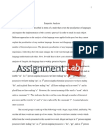 Linguistics/ Essay / Paper by AssignmentLab.com