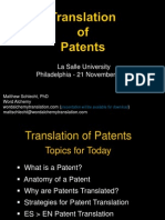 Translation of Patents