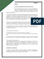 DIFERENCIAS DE LA FILOSOFÍA CON OTRAS CIENCIAS
