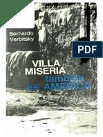 Verbitsky Bernardo - Villa Miseria Tambien Es America