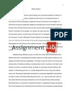 World Culture/ Essay / Paper by AssignmentLab.com
