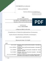 Contribution à l'étude des phénomènes d'extraction hydro-thermo-mécanique d'herbes aromatiques