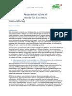 Preguntas y Respuestas sobre el Fortalecimiento de los Sistemas Comunitarios