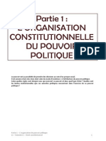 Partie 1 L'Organisation Constitutionnelle Du Pouvoir Politique