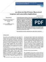 Acreage Response of Rice in Cote d'Ivoire:Macro-level response and some policy implications