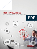 Best Practices for Customer Service With Oracle Rightnow